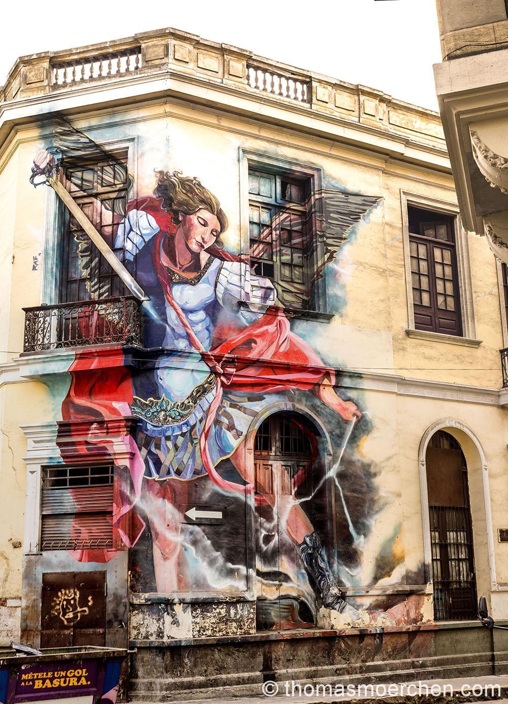 Eines der wenigen Graffities die man in Lima findet