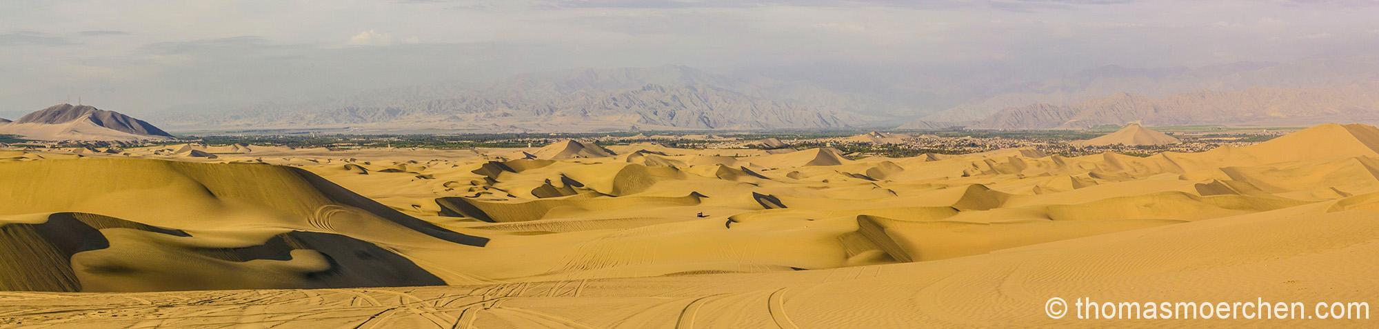 Wüste zwischen Pazifik und Anden bei Huacachine