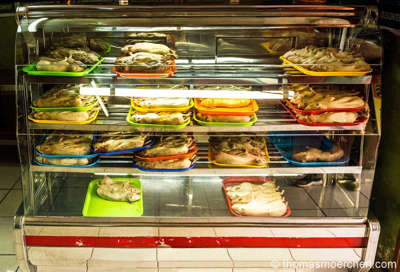 Cuy aka Meerschwein - das mit Abstand teuerste Gericht hier in Peru